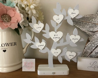 Wooden Family Tree with up to 11 names
