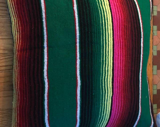 Southwestern Mexican Stripe Woven Sarape Blanket Pillow Covers