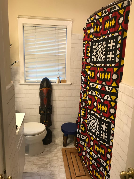 Colorful African Wax Print Ankara Shower Curtains