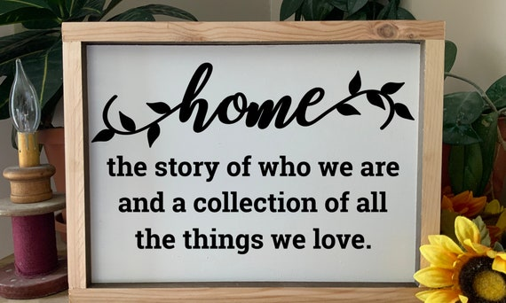 Home Sign, The Story of Who We Are, Housewarming Gift, Wedding Gift, Christian decor, Rustic Western Wall Art