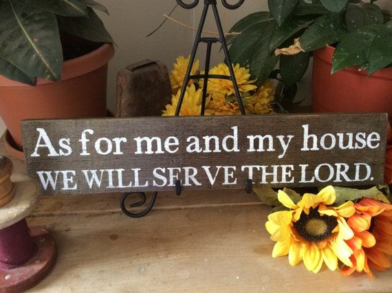 Bible Verse Sign, Scripture Verse Sign, As For Me and My House, Western home decor, Christian home decor, Barnwood Sign, Rustic Home decor