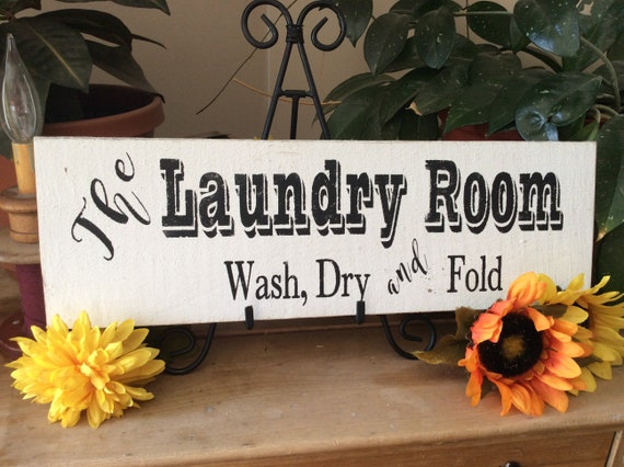 Laundry Room Sign, Wash Dry and Fold, Rustic Laundry Room, Barnwood Sign, Western Home Decor, Farmhouse Laundry Room, Country Laundry Room
