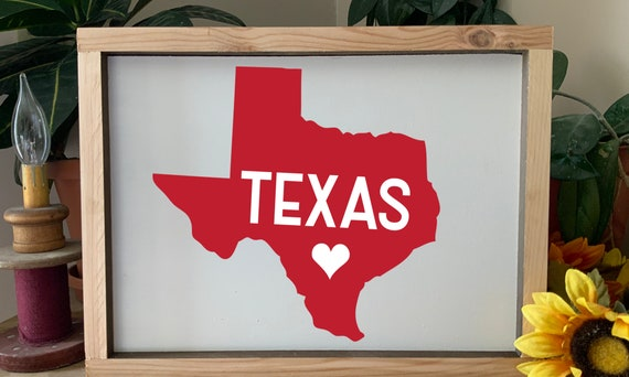 Texas Home Sign, I love Texas framed sign, Western Rustic Wall Art, Home state sign, can be customized with your state
