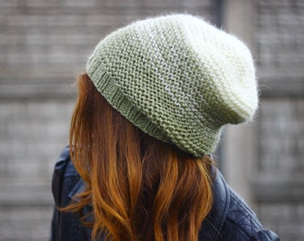 KNITTING PATTERN - slouchy hat pattern - pattern hat (Toddler, Child, and Adult sizes) knitting hat pattern, easy hat pattern, hat pattern