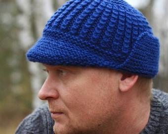 KNITTING PATTERN No. 24 knitting brim hat pattern Toddler  3a9c8b777e2
