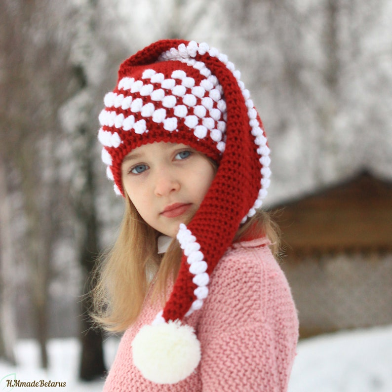 CROCHET PATTERN No.72 Christmas Santa hat pattern 3/6 to image 0