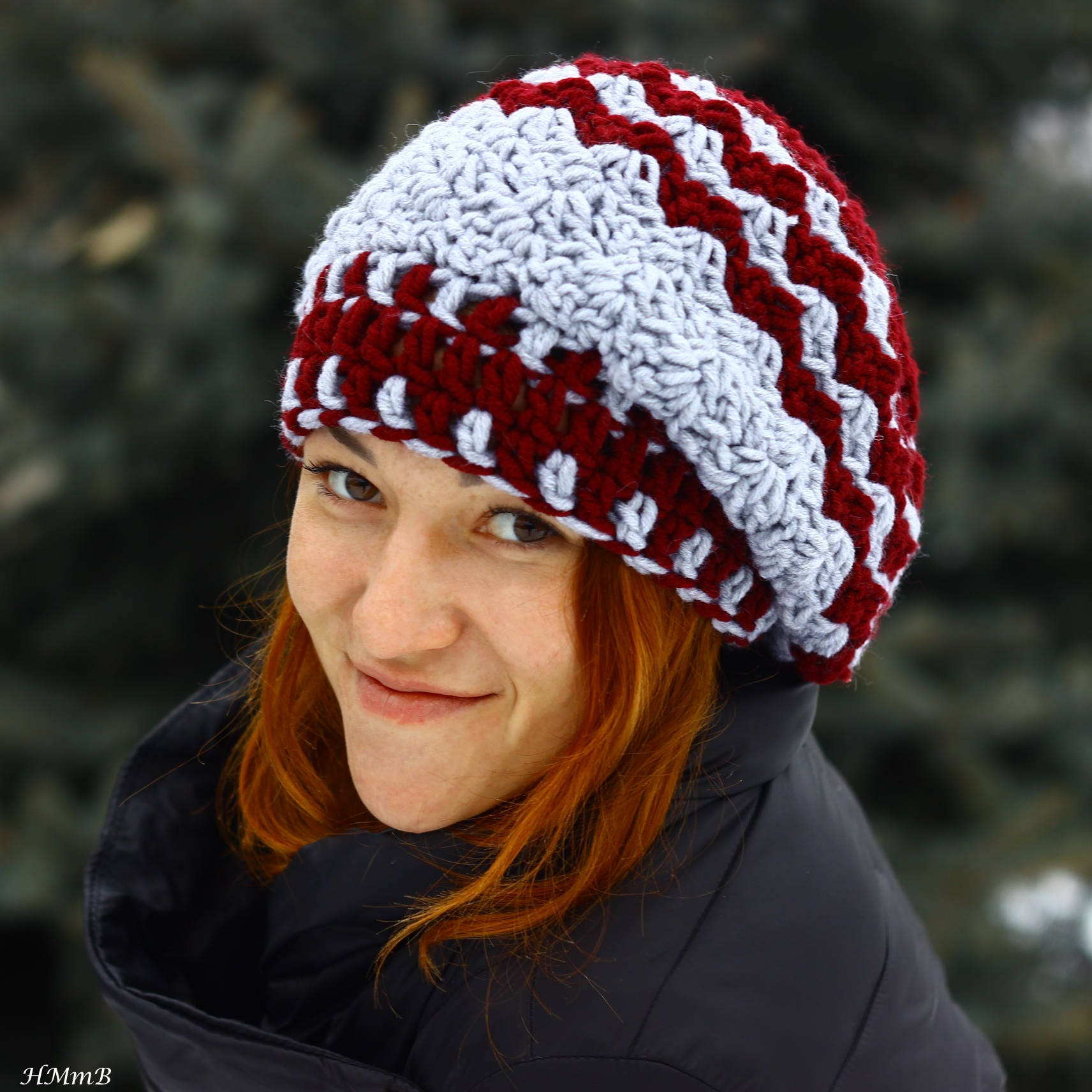 Crochet Pattern No 46 Slouchy Hat Toddler Child And Adult Etsy