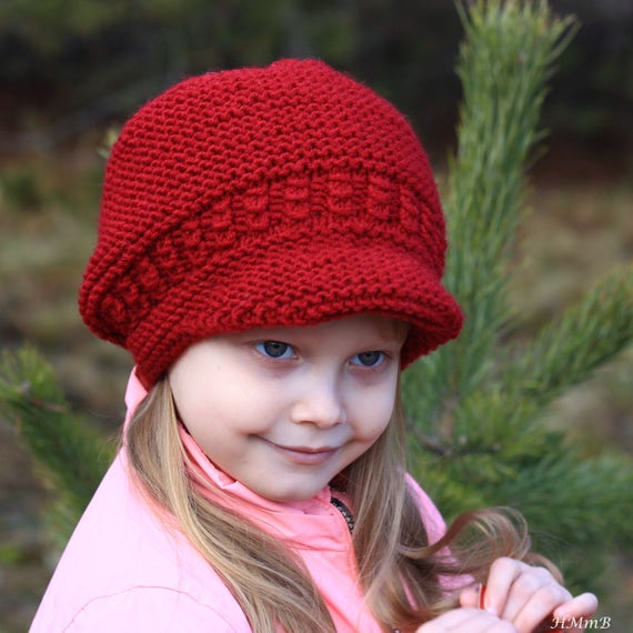 KNITTING PATTERN No 25 brimmed hat pattern Toddler Child | Etsy