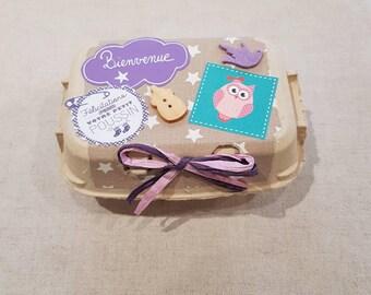 0c5fb9eba71 Idée cadeau de naissance (ref BC 004)  boîte d oeufs contenant 6 paires  chaussettes 6-12 mois