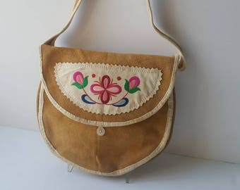 Vintage hessian Love is caring...Love is sharing bag seventies kitsch!