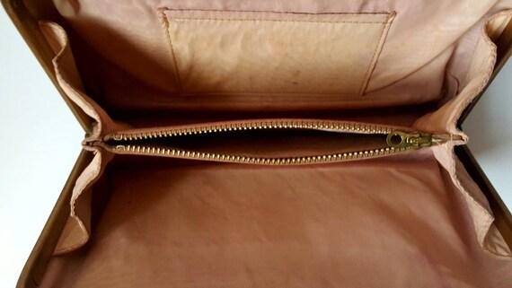Faux snakeskin bag, 1940's, vintage bag, box bag,… - image 8