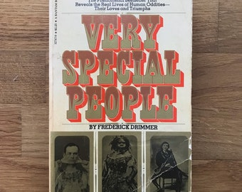 Very Special People - Frederick Drimmer, Vintage, Human Oddities Book, Elephant Man.