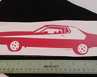 SHareCon decal, Two color Torino decal, vinyl Torino decal, Starsky Hutch Torino decal, Torino laptop decal