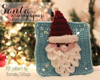 Santa granny square crochet pattern