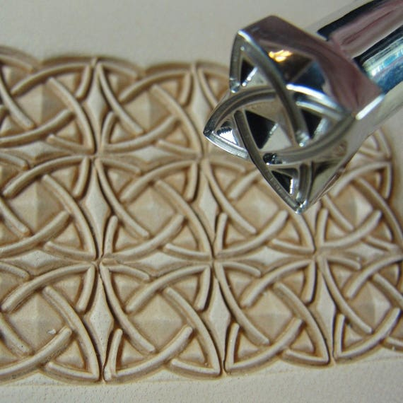 Leather Tool #3 Starburst Box Geometric Stamp Stainless Steel Barry King