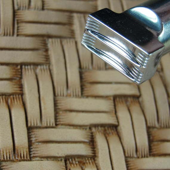 Leather Tool #0 4 Post Long Block Basket Stamp Stainless Steel Barry King