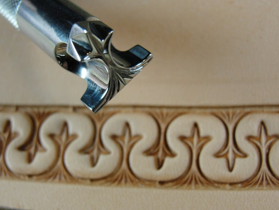 Leather Stamping Tool Stainless Steel Barry King #4 Wishbone Border Stamp
