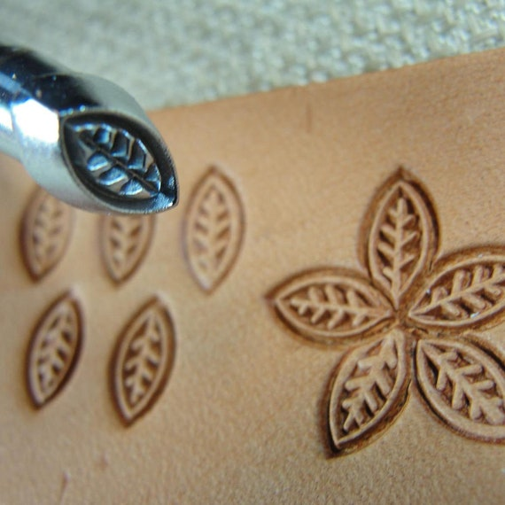 Leather Stamping Tool Craft Japan #O35 Small Leaf//Petal Stamp