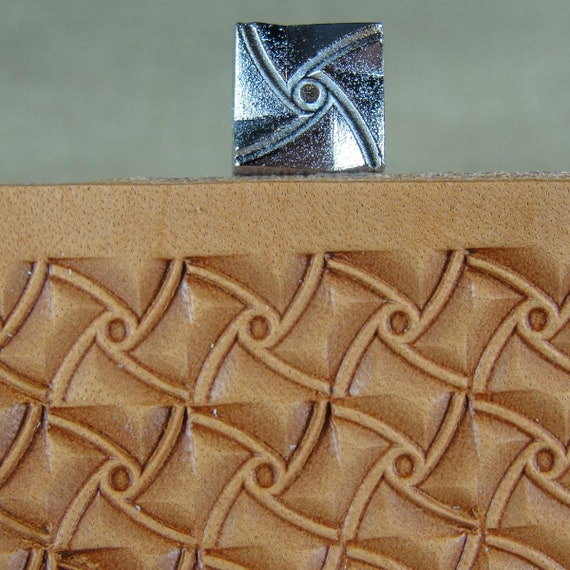 E685-S Small Crazy Legs Geometric Stamp Leather Stamping Tool