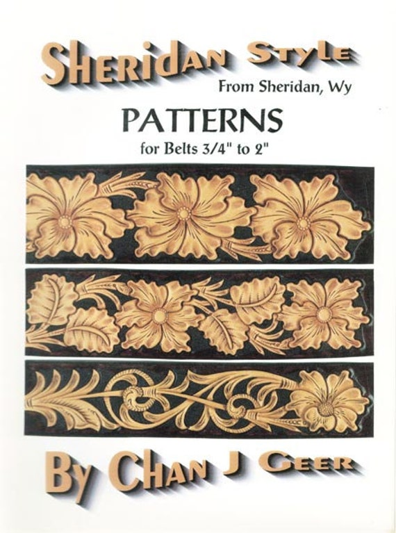 Leather Design Sheridan Style Magnetic Notebook Cover Patterns #1 by Chan Geer