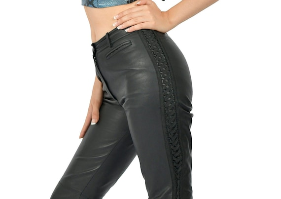 Christian Dior leather trousers