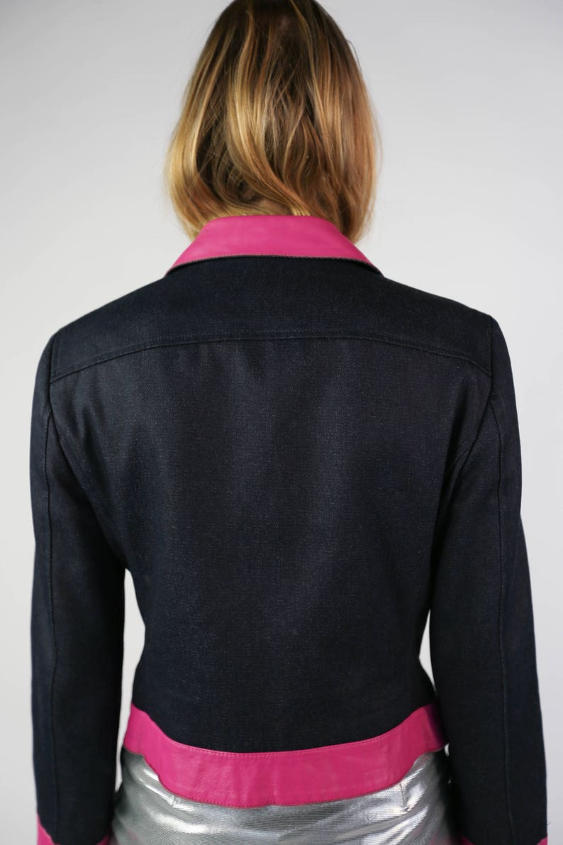Jacket d-G jeans and leather