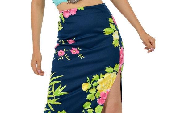 Versace jeans couture floral split skirt
