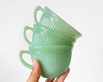 1950s Jadeite Green Glass All Original Vintage JADITE Green Planter