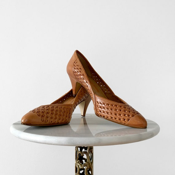 Vintage, 1960s, 1970s, Tan, Woven, Basket-Style, L