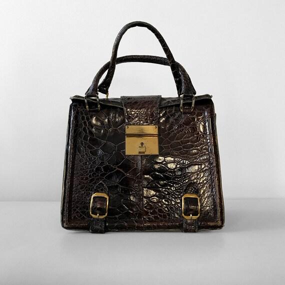 Vintage, 1960's, 60's, Dark-Brown, Brown, Leather,