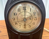 Vintage 1920s Hammond Gothic Cathedral Brown Bakelite Mantel Alarm Clock