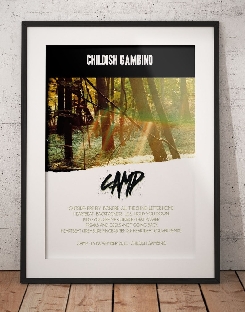 Childish Gambino Camp Poster Camp Album Music Cover Etsy