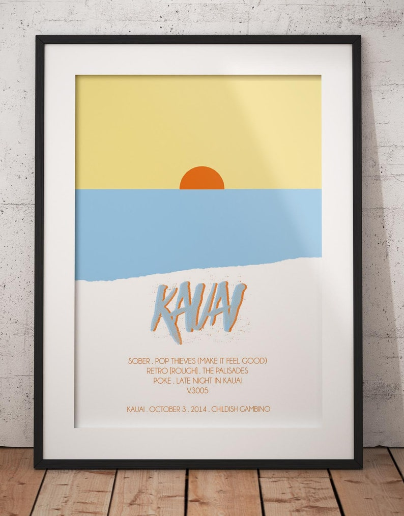 Childish Gambino Poster Kauai Album Music Cover American Etsy
