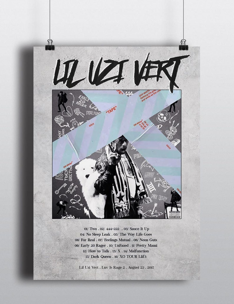 Lil Uzi Vert Luv Is Rage 2 Poster Music Album, Poster, Print, Album  Tracklist, Album Collection