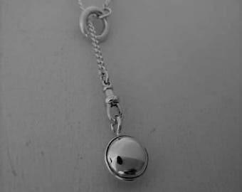 Silver Pendulum slip loop Lariat Necklace
