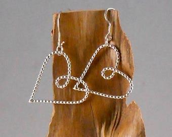 Heart 1 sterling silver earrings