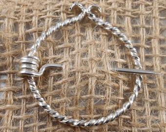 """sterling silver """"penannular brooch"""""""