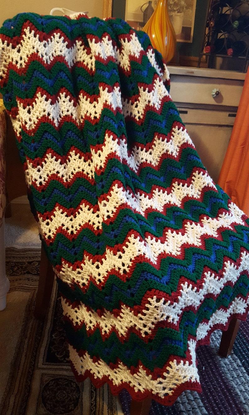 Christmas Afghan Christmas Blanket Crochet Christmas Etsy