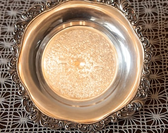 Wallace Baroque Silverplate Trivet Coaster Plate Tray 244