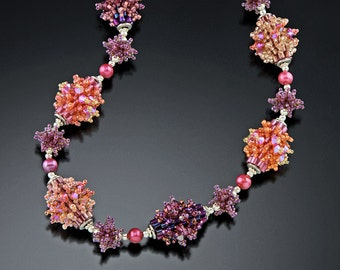 Spring Beaded Bead Necklace Tutorial