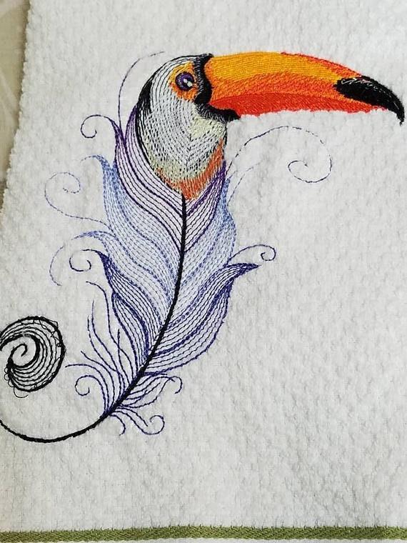Toucan oiseau dessin de cuisine Tablier de cuisine