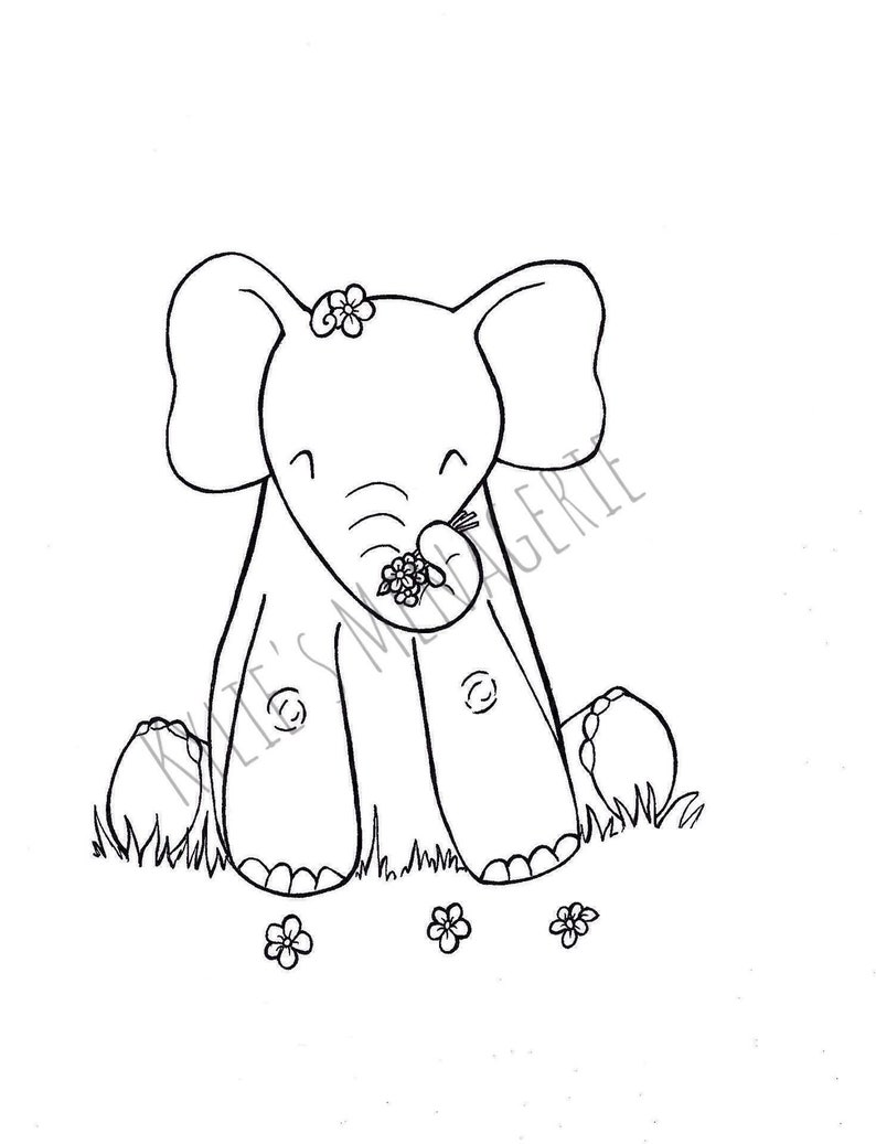 Free Free Printable Coloring Page Of Elephant, Download Free Clip ... | 1037x794