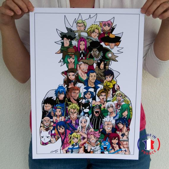 Doodle Fairy Tail Manga Art Original Home