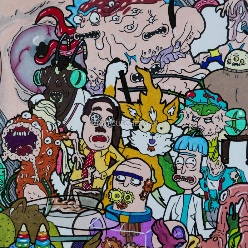 Rick & Morty / TO DOWNLOAD / 50 characters of Season 1!!! / Netflix /  Cartoon / Anime / Wall Decoration / Poster / Children Bedroom / Decor