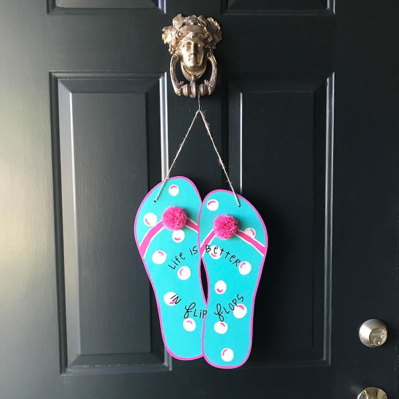 Flip flop door hanger great for a beach house summer door hanger