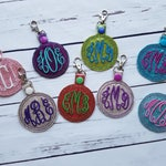 Monogram Vinyl Key Chain / Backpack Charm