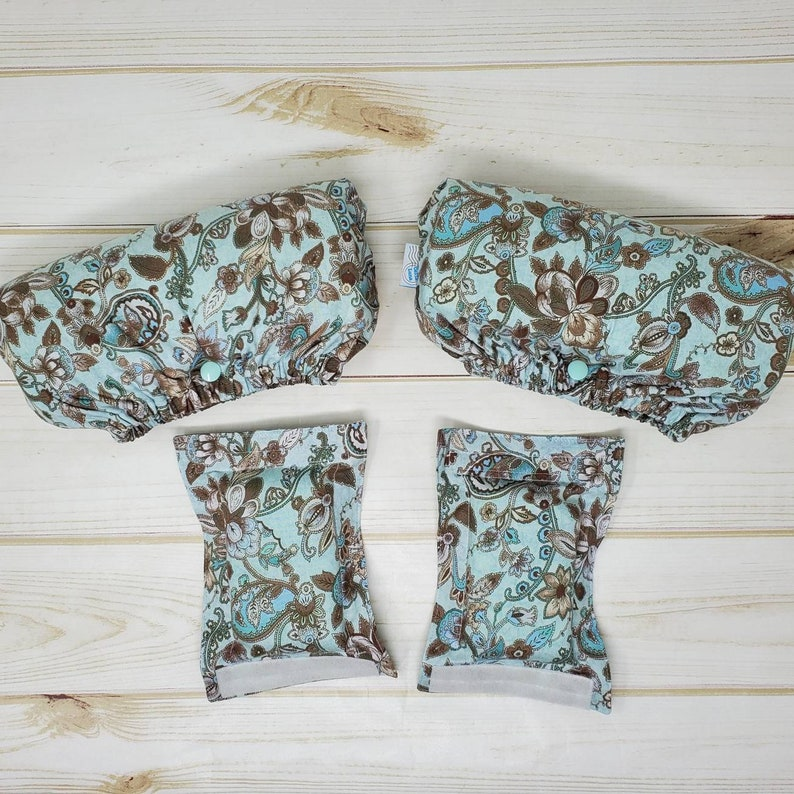 Crutch Underarm and Hand grip Covers  Blue Paisley image 0