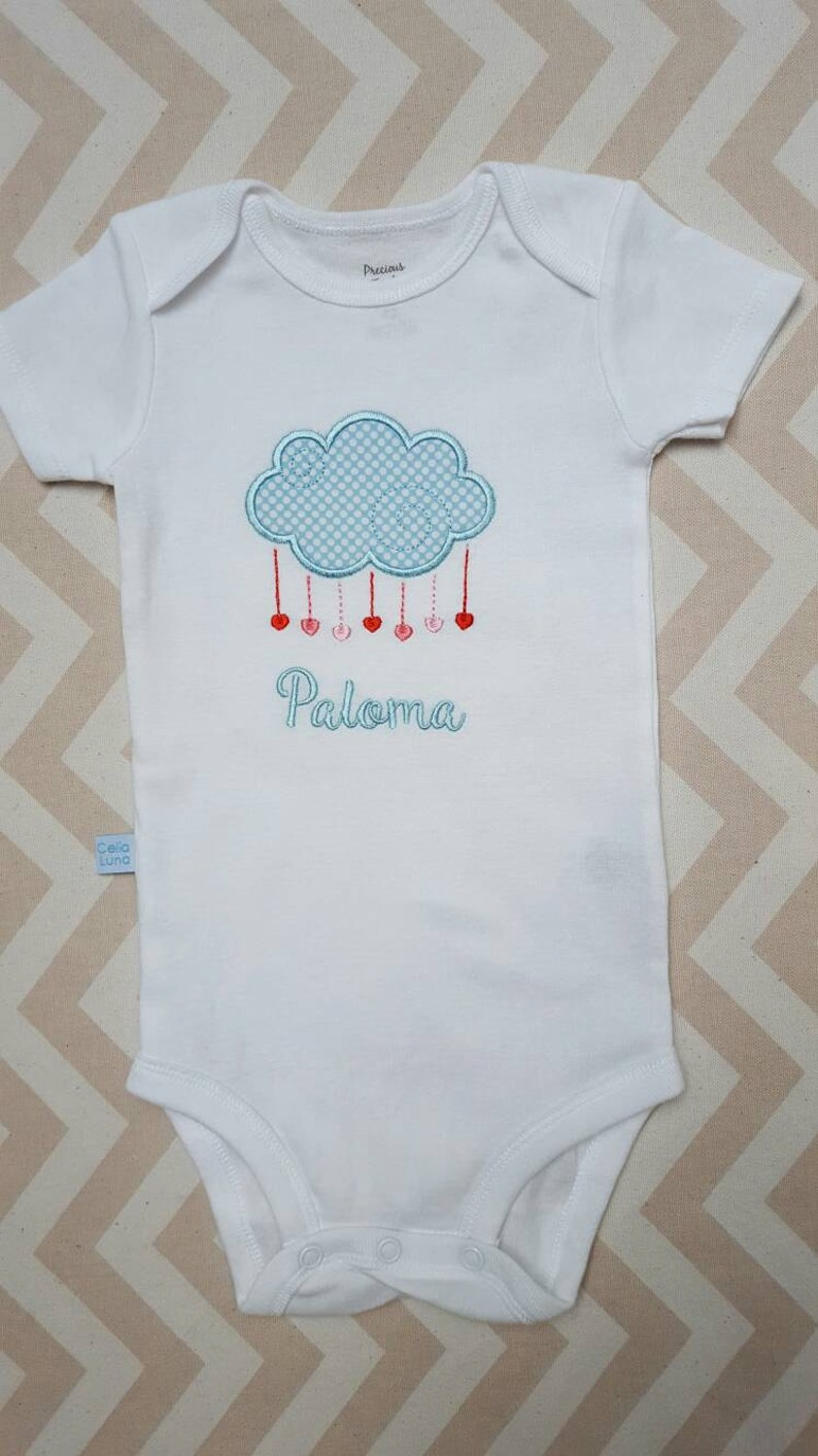 Personalized Heart Valentine Embroidered Onesie / Shirt image 0