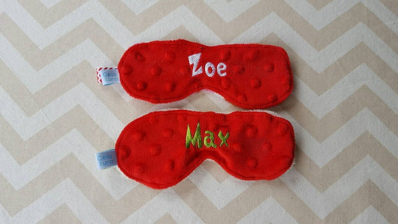 Christmas Holiday Personalized Child's Sleeping Mask image 0