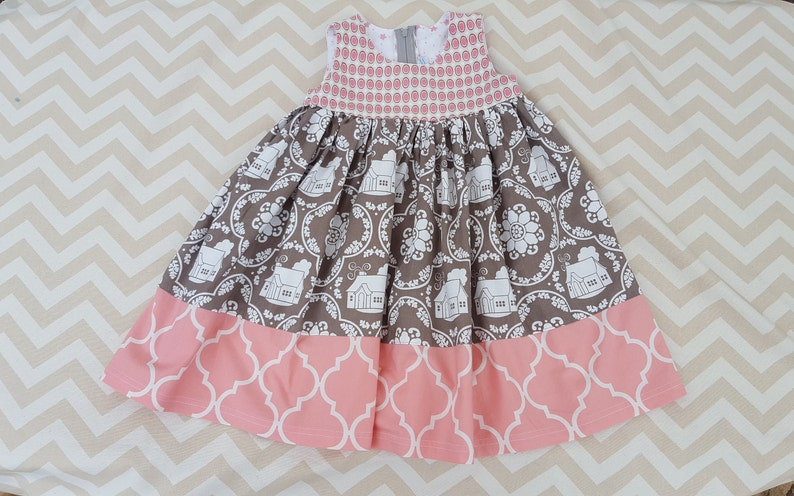 Pink and Gray  Girls /Toddler 3T Summer Dress image 0